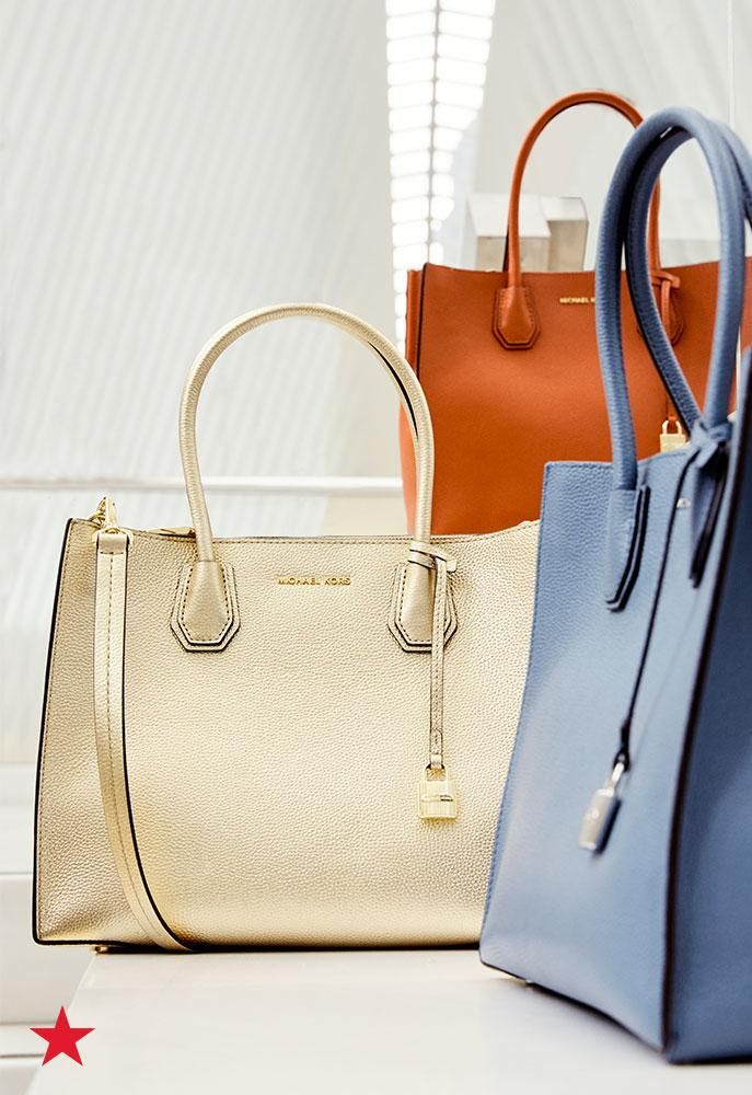 The premium pebble leather and structured frame makes this Michael Michael Kors tote the perfect carry-all for your nine-to-five. The center zip divider helps keep your belongings upright and organized so you won't have to go digging for your essentials. Shop now at macys.com!
