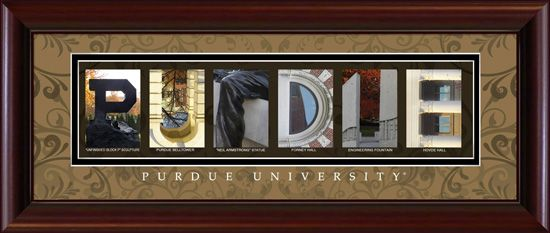 Take Pictures At Purdue And Make A Purdue Collage Letter Wall Art Art Collage Wall Purdue University