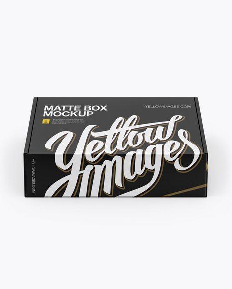 Download Download Matte Box Psd Mockup High Angle Shottemplate Mockup Free Psd Box Mockup Mockup Psd