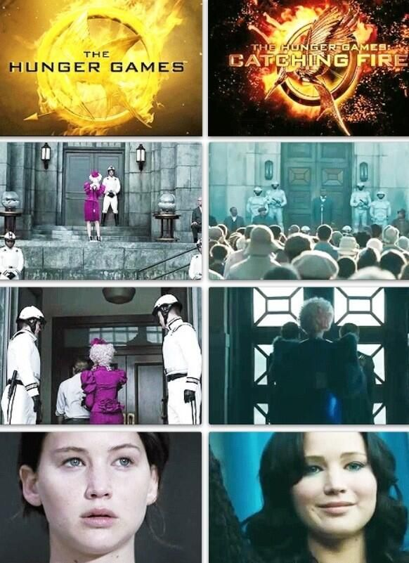 The Hunger Games vs. Catching Fire- make more of these!!!!!!!!!!!