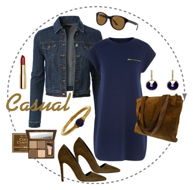 """""""26.08.2015"""" by olgacontrast on Polyvore featuring мода, LE3NO, Alice + Olivia, Chanel, Ray-Ban, Lalaounis, Too Faced Cosmetics и H&M"""