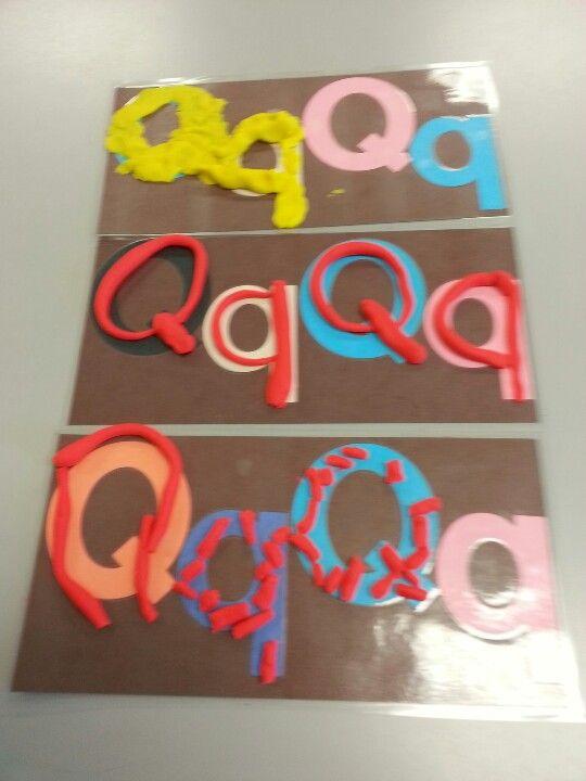 No more worksheets in preschool!  Playdough mats to develop letter awareness