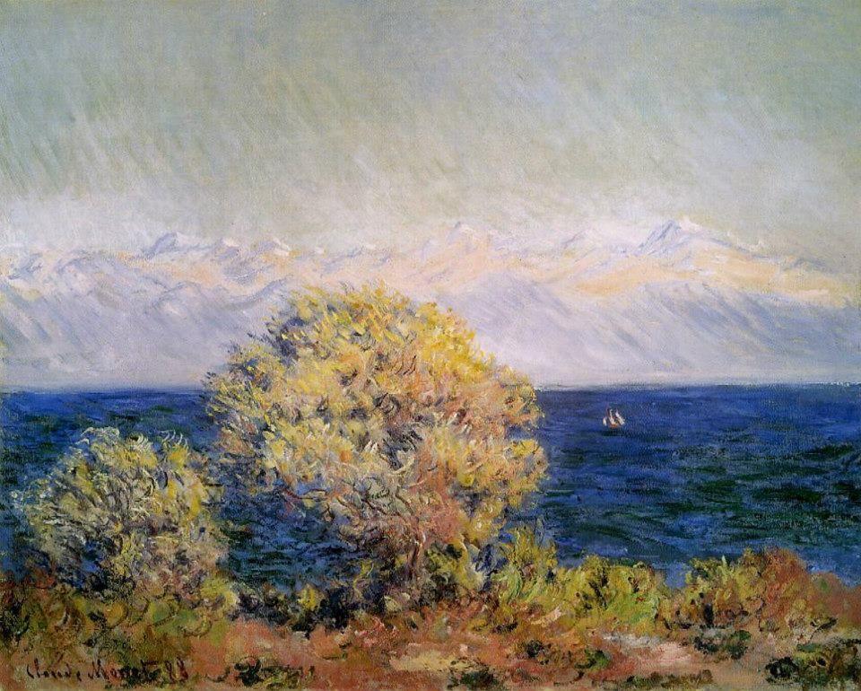 """Claude Monet, """"Au Cap d'Antibes par vent de mistral""""."""