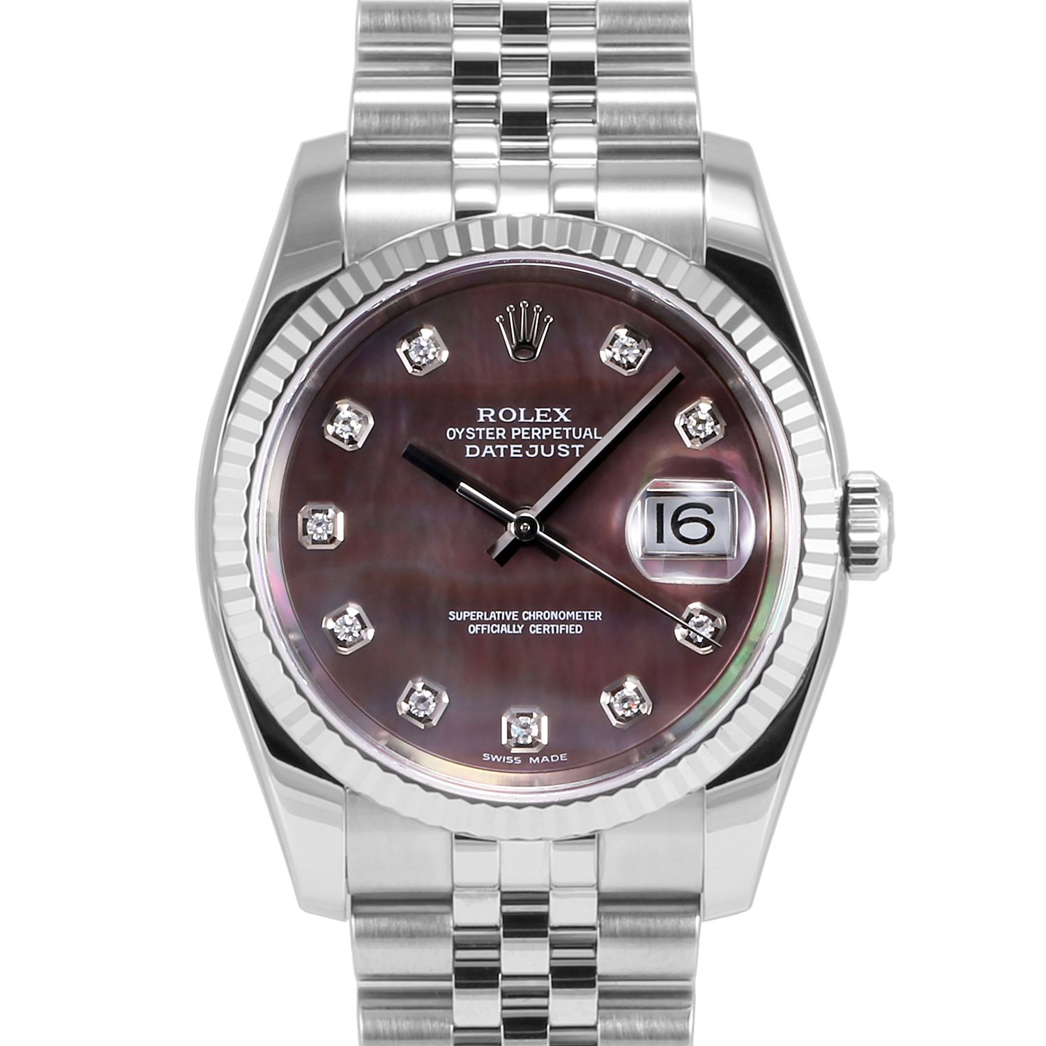 men s rolex datejust stainless steel blue stick dial fluted bezel men s rolex datejust stainless steel tahitian mother of pearl diamond dial fluted bezel jubilee band new