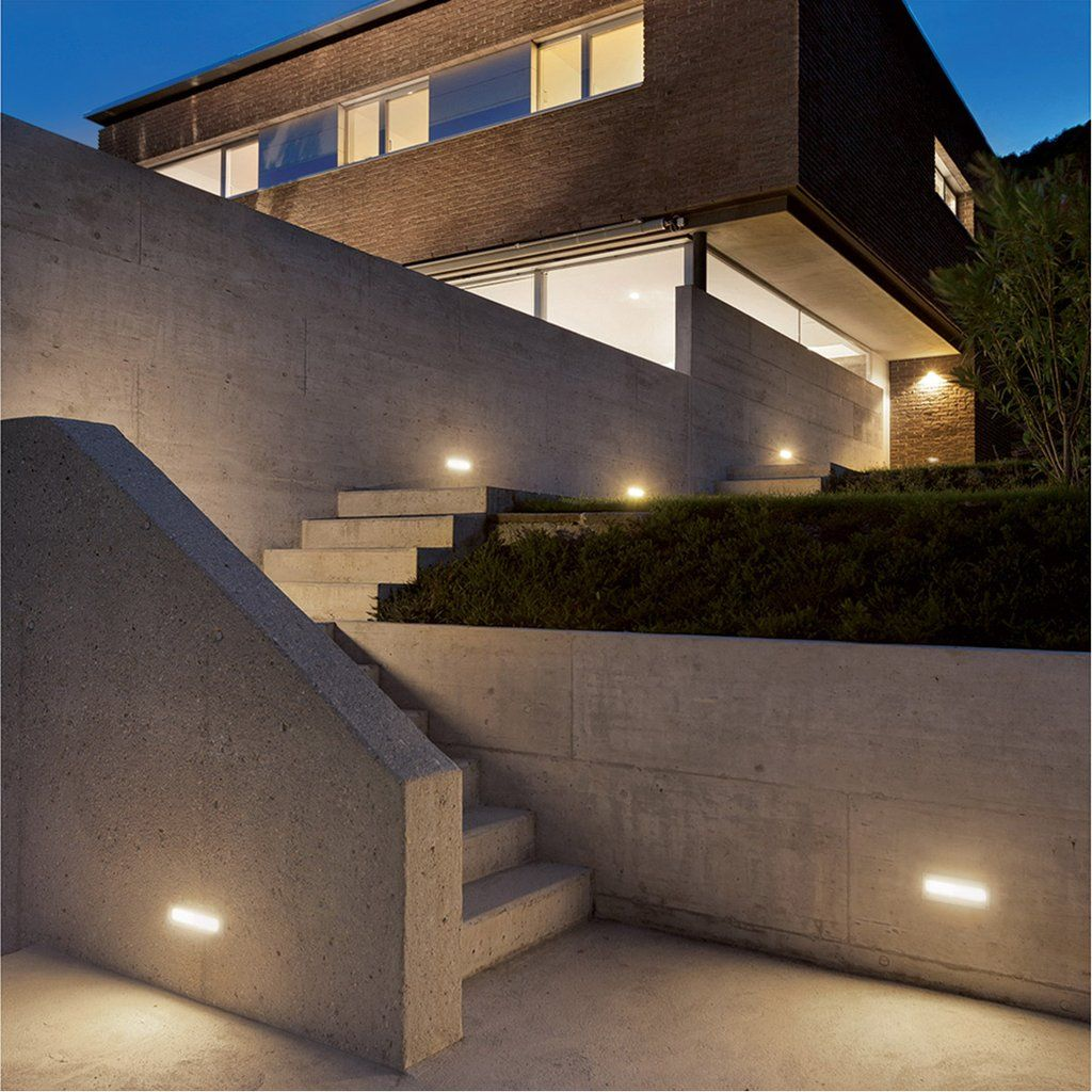Wac Lighting Wl 5105 30 Abz Endurance 120v 5 50 Watt Architectural Bronze Brick Light Modern Residential Architecture Architecture Step Lighting Outdoor