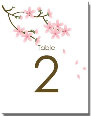 table number cards printable apple blossom wedding invitations diy