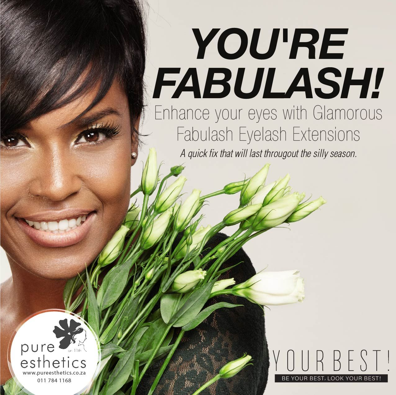 You're FABULASH! Enhance your eyes with Glamorous Fabulash Eyelash Extensions A quick fix that will last throughout the silly season. Contact us on 011 784 1168 for more information or appointment. #fabulash #redcarpetready #beautyquickfix #glamorouseyes