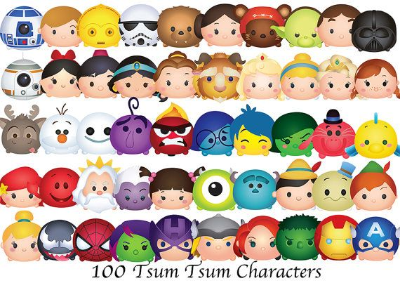 Tsum Tsum Clipart 50 High Resolution Clipart Disney Tsum Etsy Disney Tsum Tsum Tsum Tsum Wallpaper Tsum Tsum