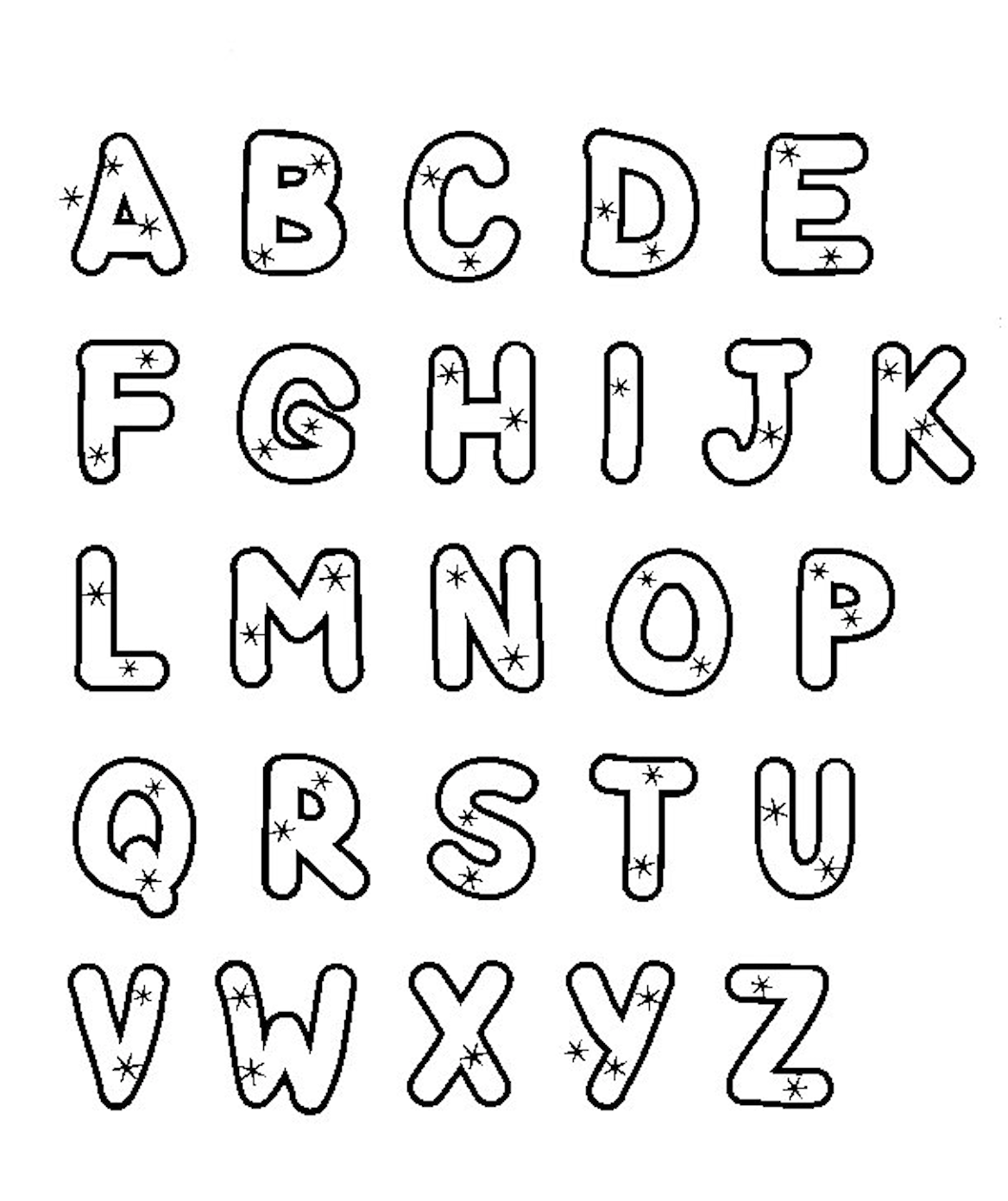 Simple Alphabet Worksheet To Print Amp Color Letters With