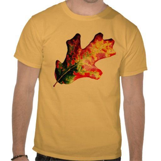 Colorful Autumn Oak Leaf T-shirts