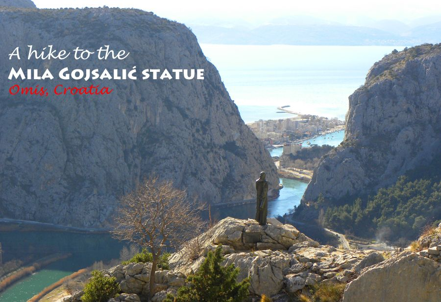 A hike to the Mila Gojsalic statue, Omis, Croatia