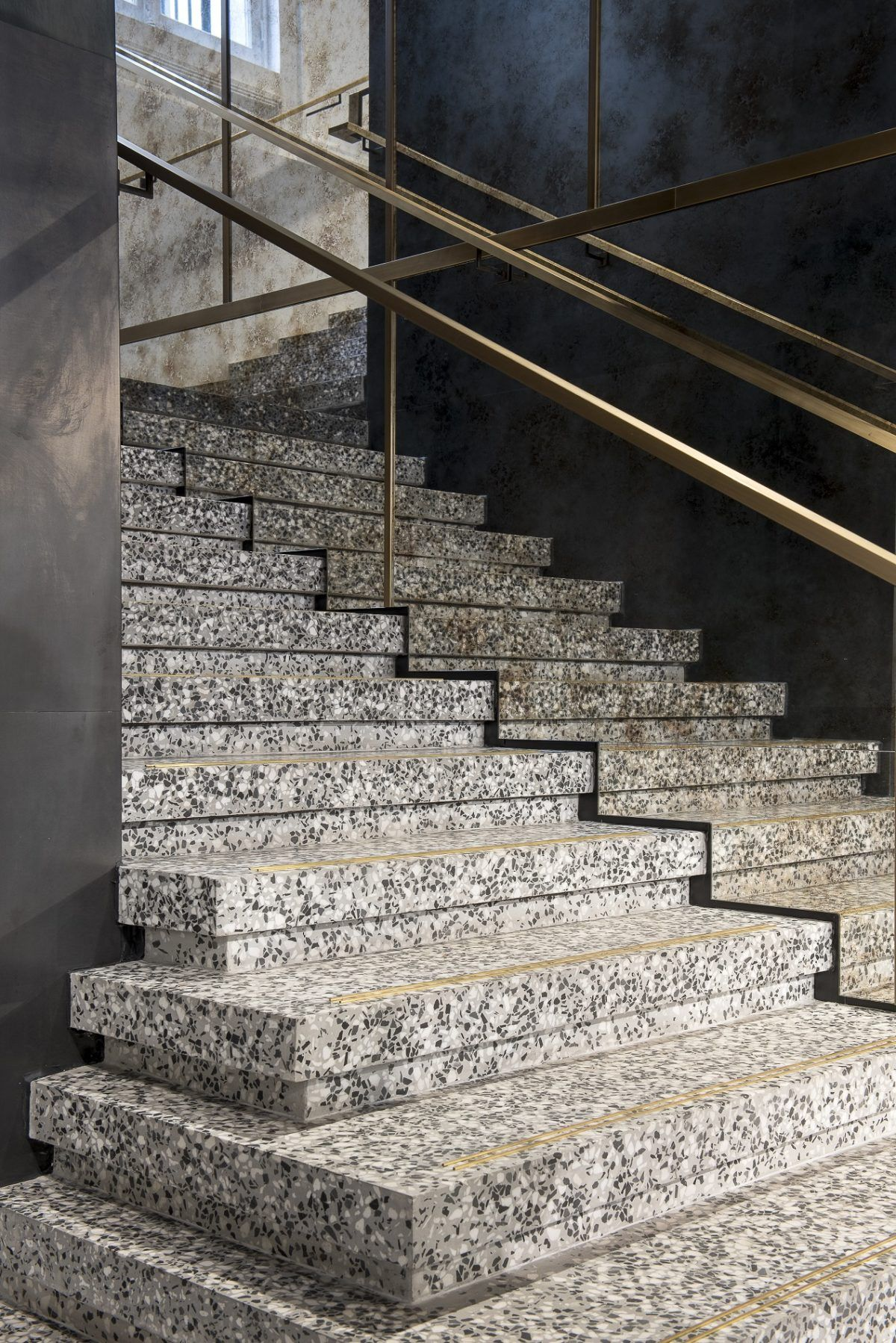 Bealstone trappen terrazzo vloer thuis interieur afwerking ...