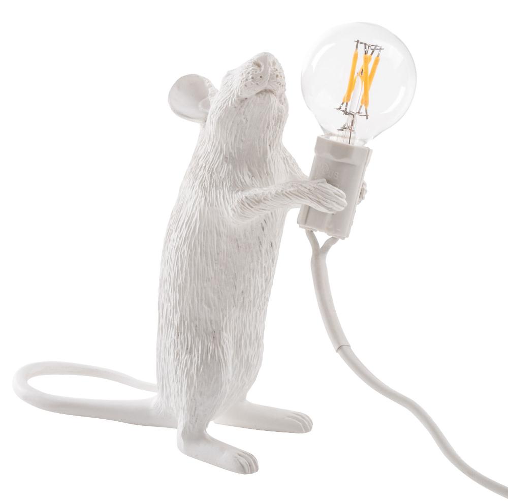 Lampe Souris Seletti Blanc Made In Design En 2020 Souris Petite Lampe Lamp