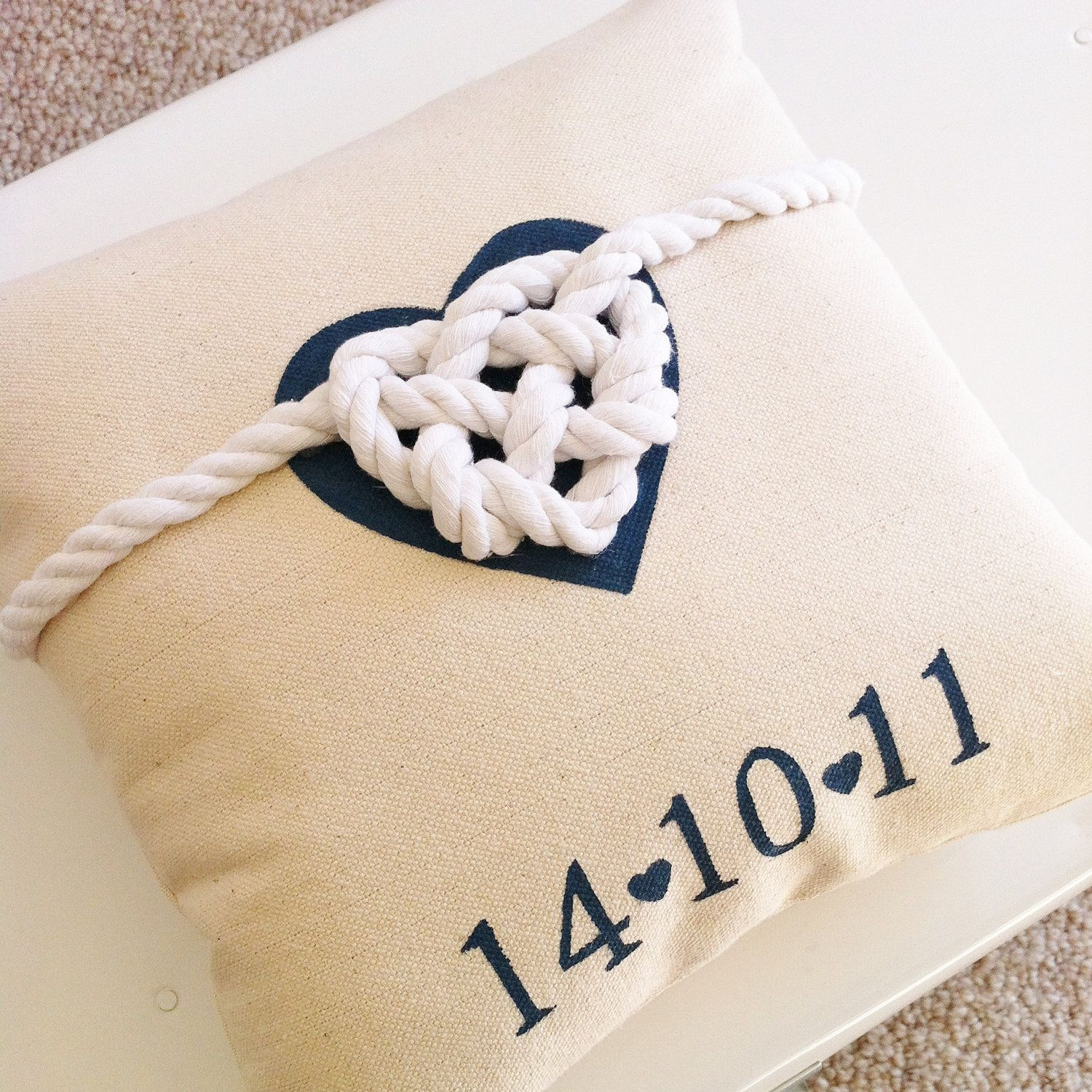 Personalized utied the knotu wedding pillow via etsy too