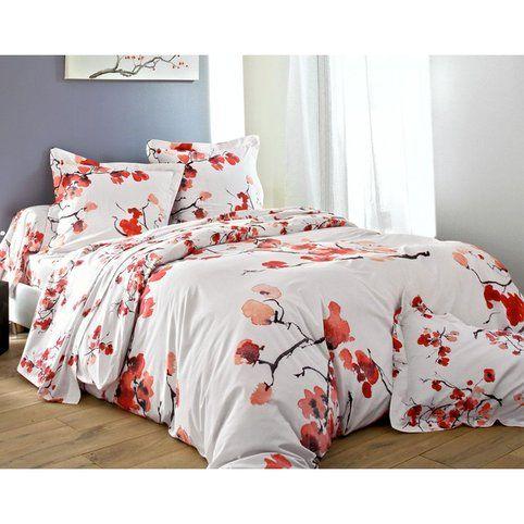 housse de couette fleurs japonaises becquet 3suisses. Black Bedroom Furniture Sets. Home Design Ideas
