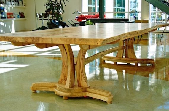 Handmade Live Edge Conference Table In Texas Pecan The Art Of - Handmade conference table