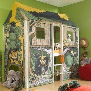 Hochbett Dschungelhaus 380 Dschungelhaus Kinderbett Kinder Bett
