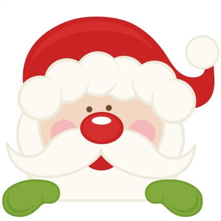peeking santa svg scrapbook cut file cute clipart files for rh pinterest co uk cute santa girl clipart cute santa clipart free