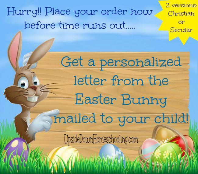 Personalized Letter From The Easter Bunny For Your Child