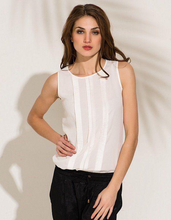 Выкройка блузки без рукавов моден