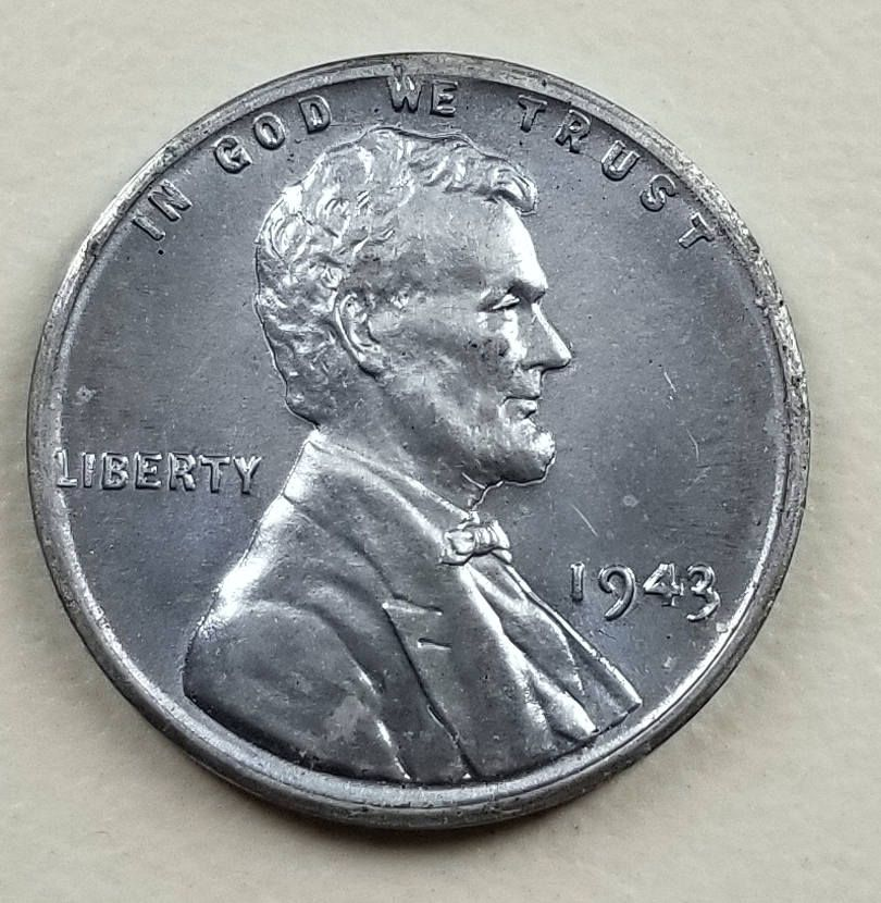 1943 Lincoln Steel Wheat Back One Cent Coin War Time Penny Bu Numismatic Collection Coins Bright White Steel Penny Steel Coins