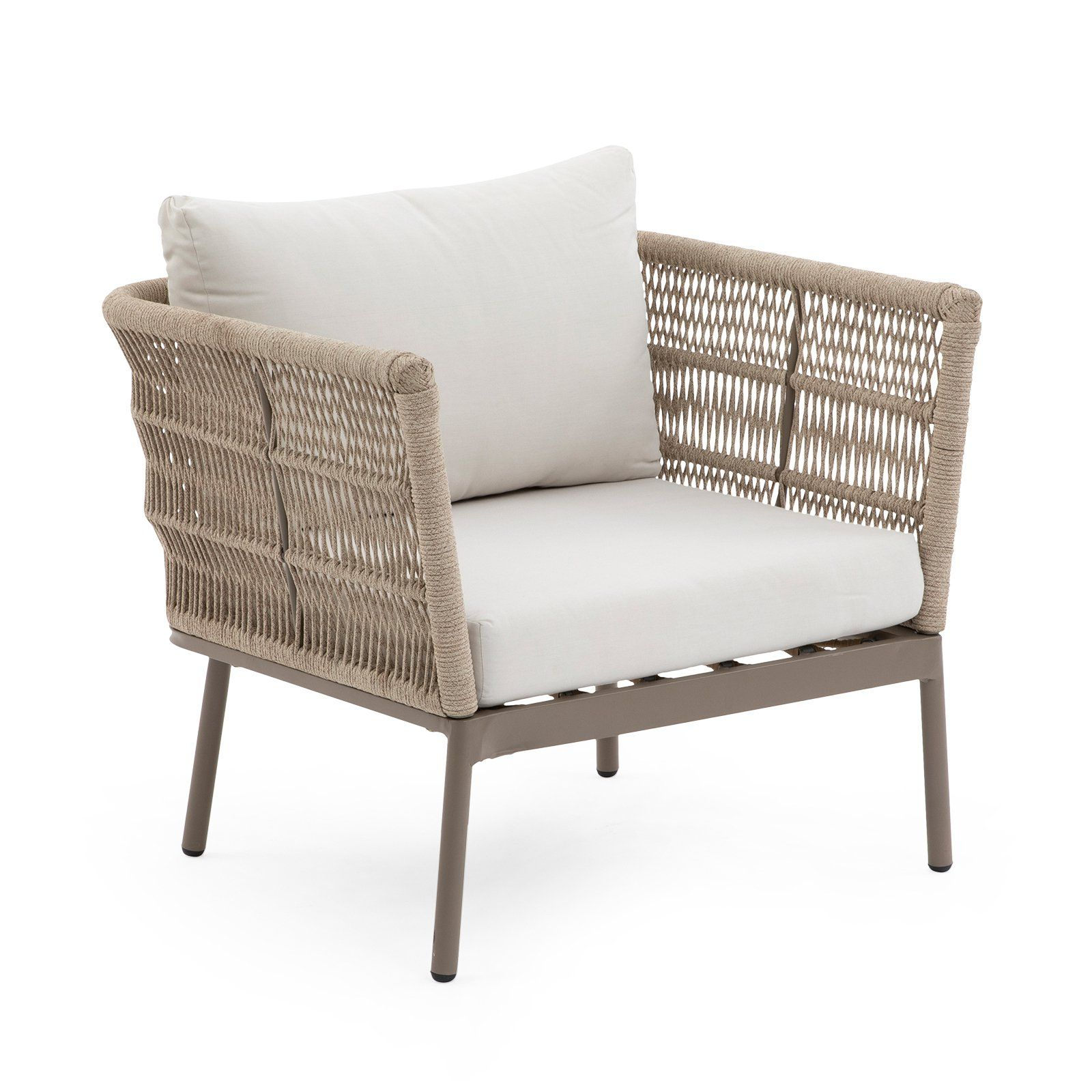 Excellent Belham Living Wicklow Rope Weave Outdoor Deep Seating Chair Bralicious Painted Fabric Chair Ideas Braliciousco