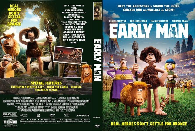 Early Man 2018 Dvd Custom Cover Custom Dvd Cover