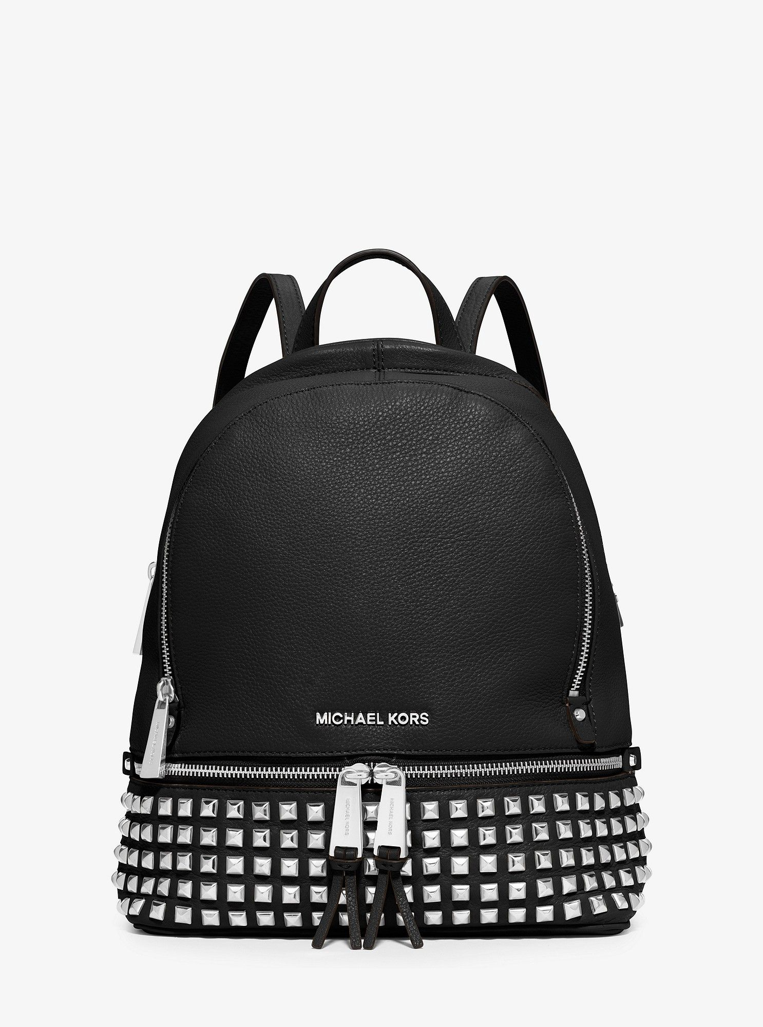 5ca5985a5ec6 Michael Kors Rhea Small Studded Leather Backpack - Black in 2019 ...