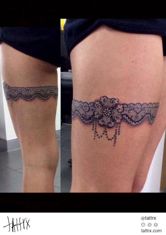 Sweet Garter Tattoo Lace Tattoo Anklet Tattoos