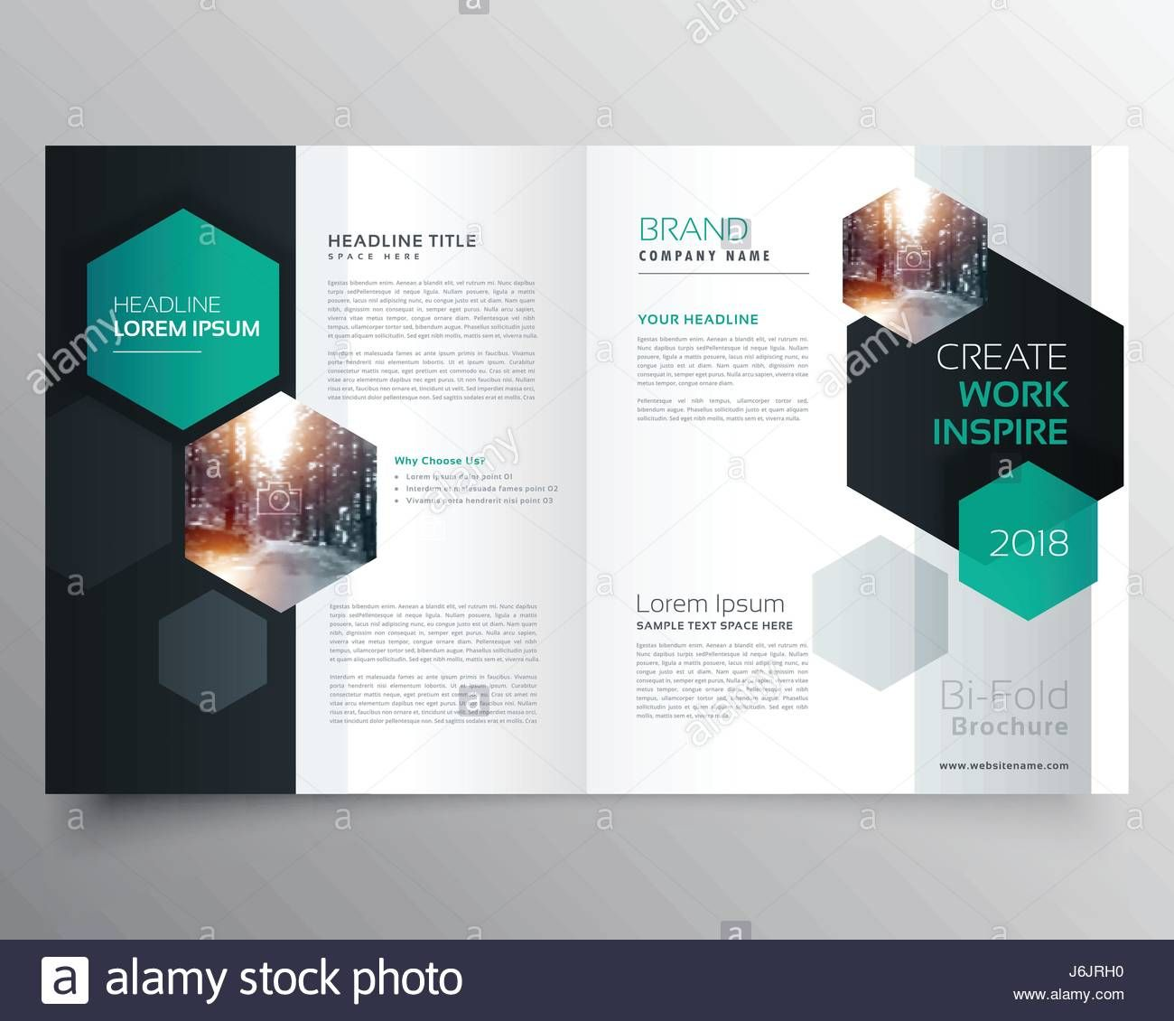 Bifold Business Brochure Or Magazine Cover Page Design With