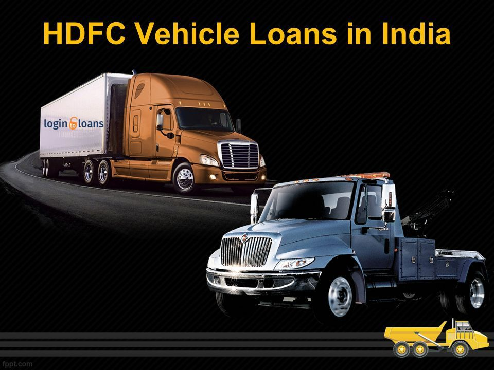 Apply Online For Best Hdfc Bank Vehicle Loans In India Compare