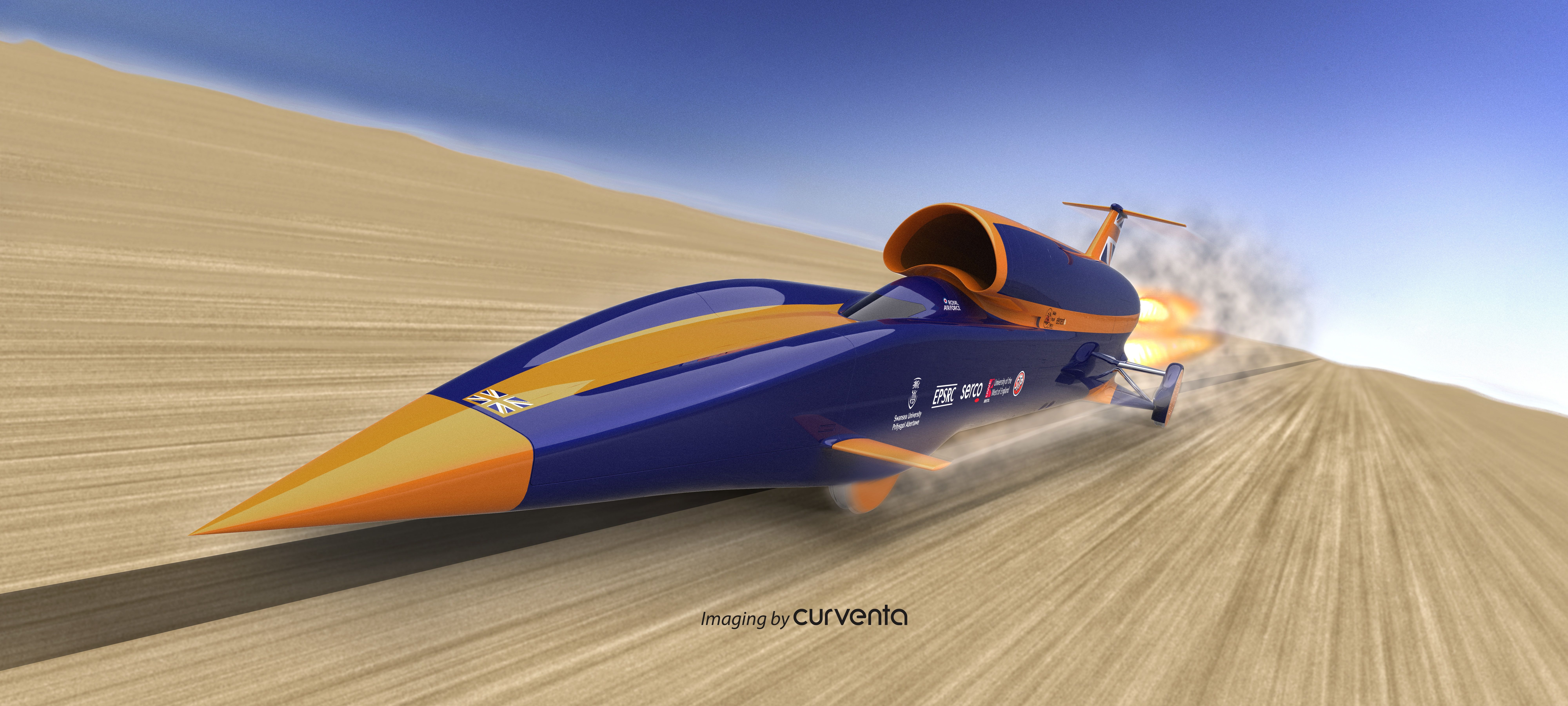 Bloodhound Ssc Is A Jet And Rocket Powered Car Designed To Go At 1 000 Mph Just Over 1 600 Kph Uwe Bristol Is One Of The Fou Car Bloodhound British Aircraft