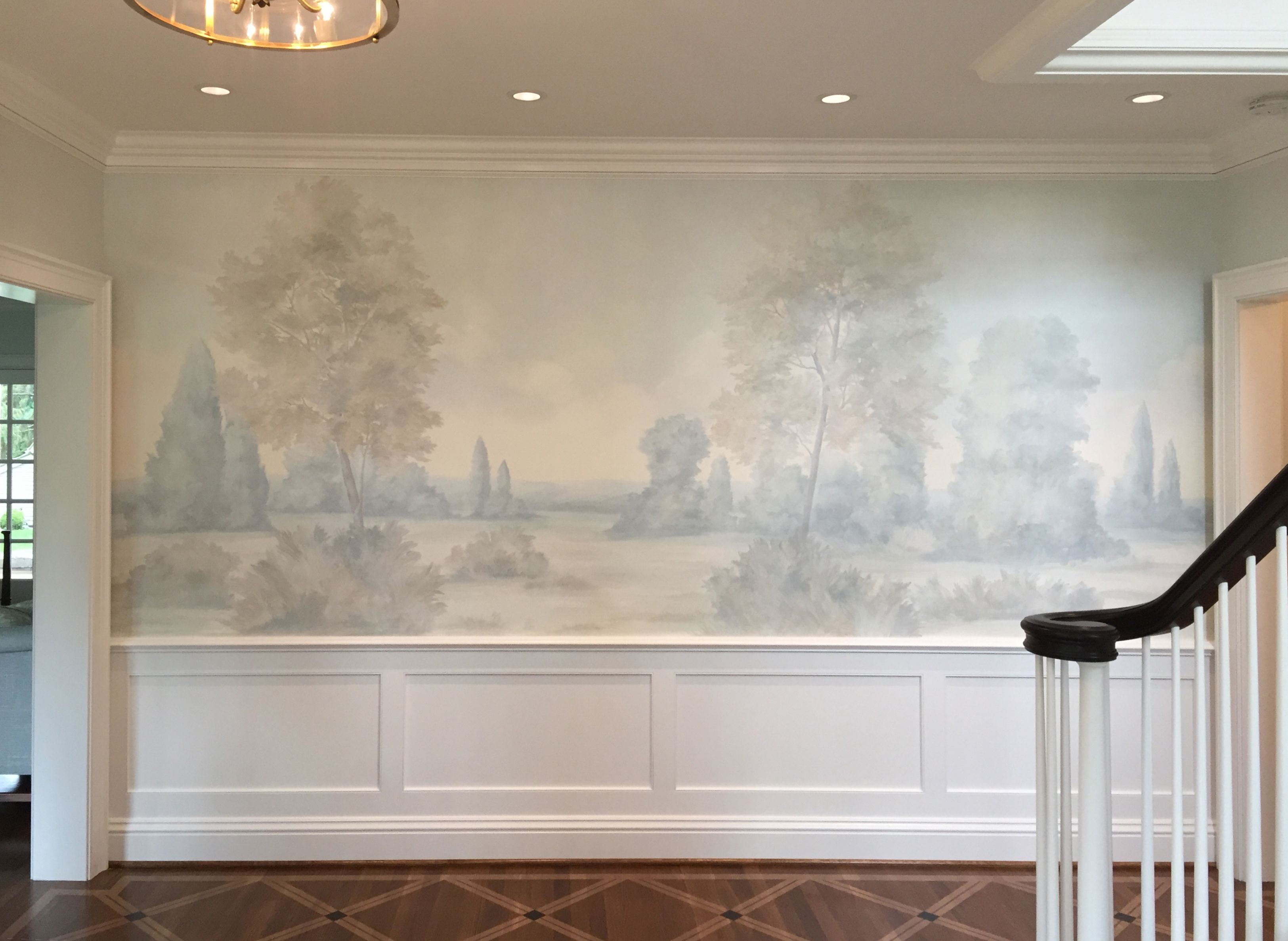 Barringtons Mist Sample 12 Susan Harter Muralpapers Dining Room Murals Mural Wallpaper Mural