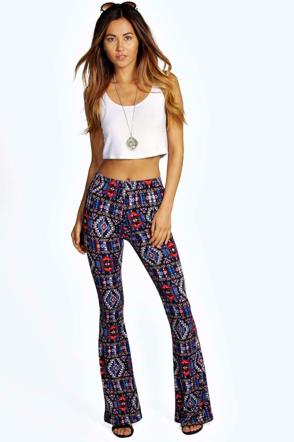 Annamarie Aztec Print Skinny Flares - not sure about these, but flares suit me
