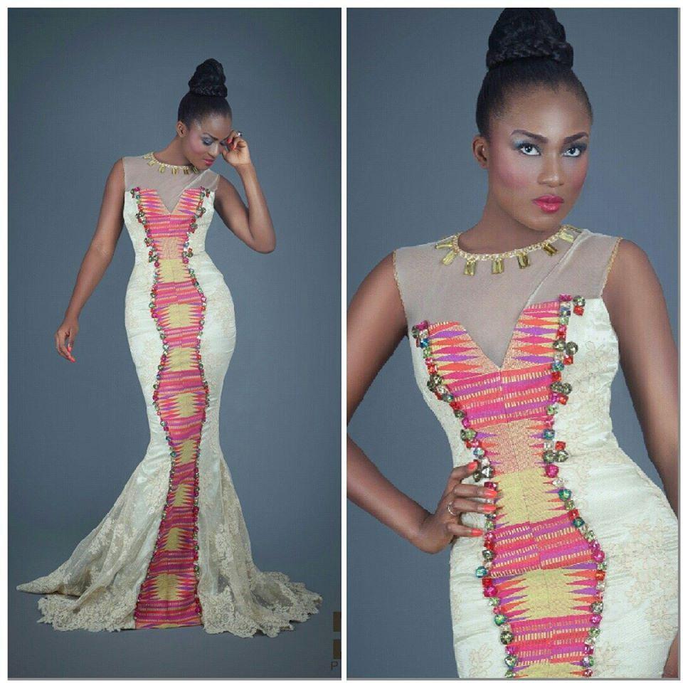 Image robe de soiree en pagne