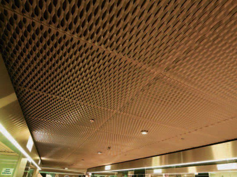 Faux plafond en m tal d ploy by fils plafond pinterest metal deploye faux plafond et plafond - Faux plafond resille metallique ...