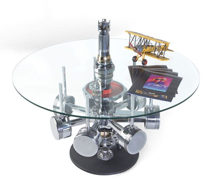 Thats a conversation piece  Jacobs radial engine table