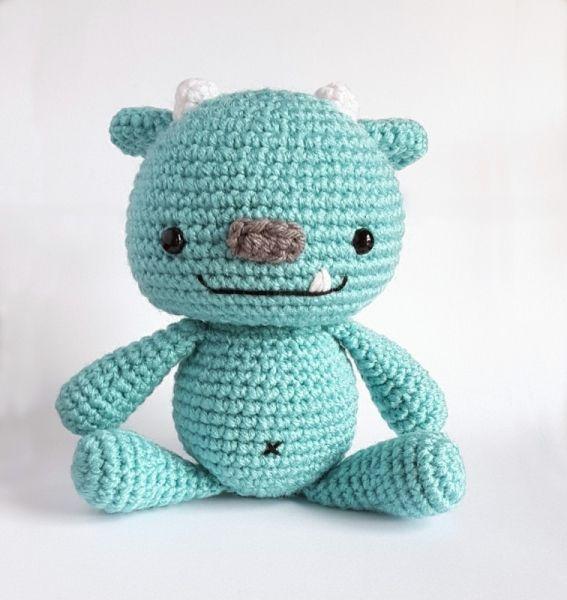 Snuggle Monster amigurumi pattern by AmiAmore | Ganchillo, Lana y ...