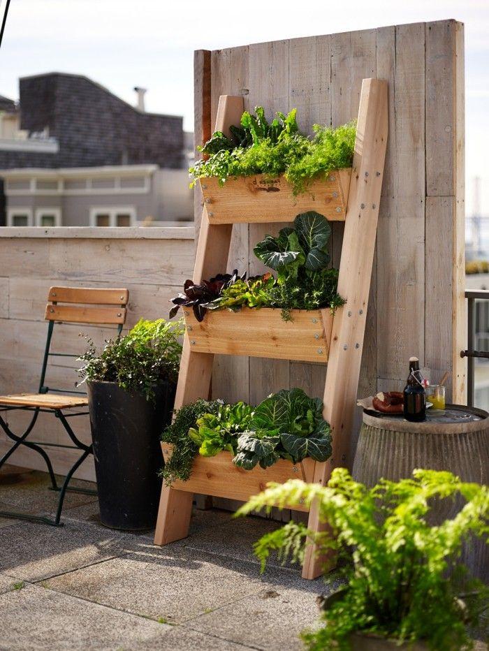 Deko Selber Machen Für Den Garten Pflanzen In Blumentreppe