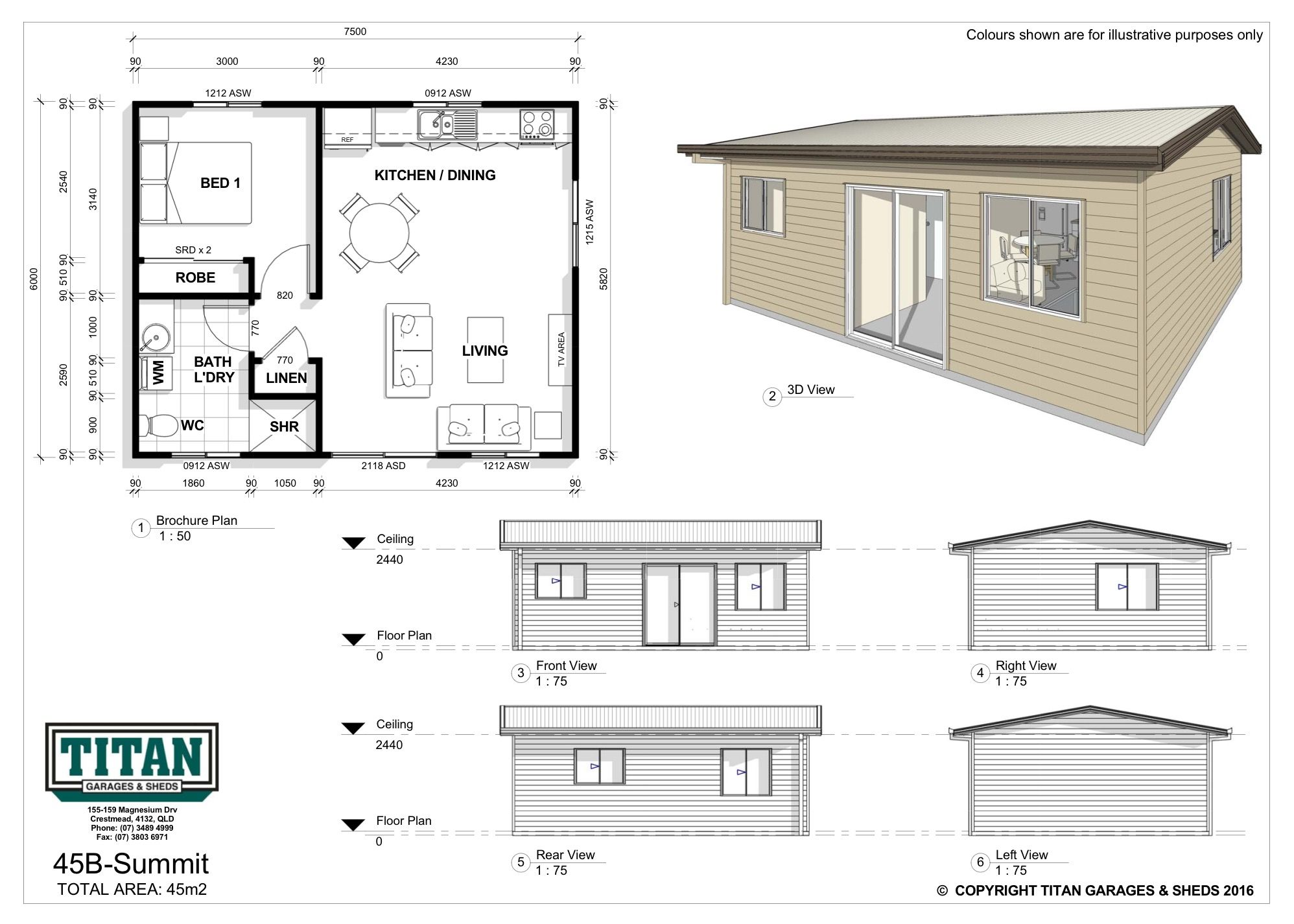 Self Contained And Comfortable Featuring An Open Plan