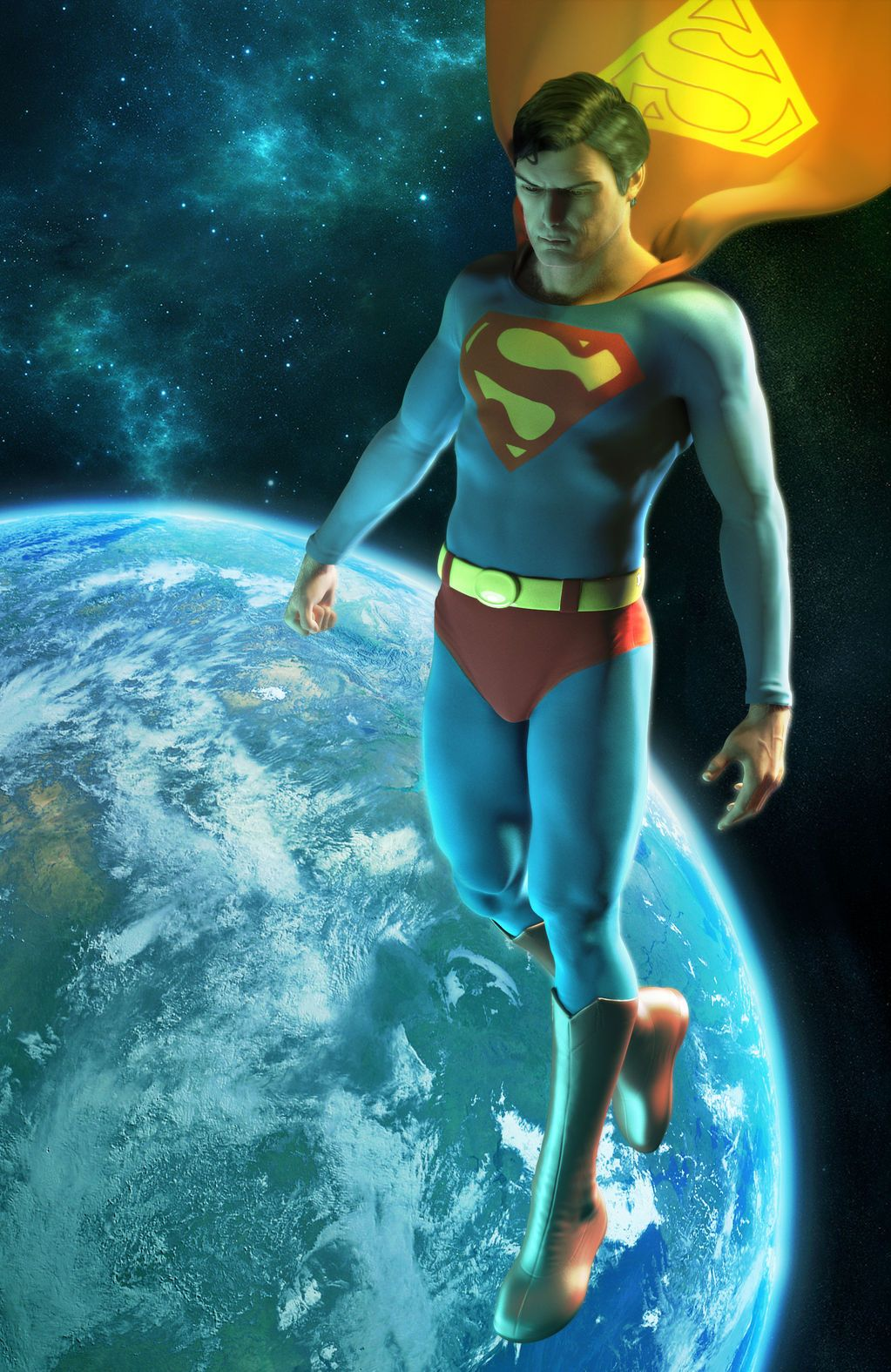Christopher Reeve - Superman illustration