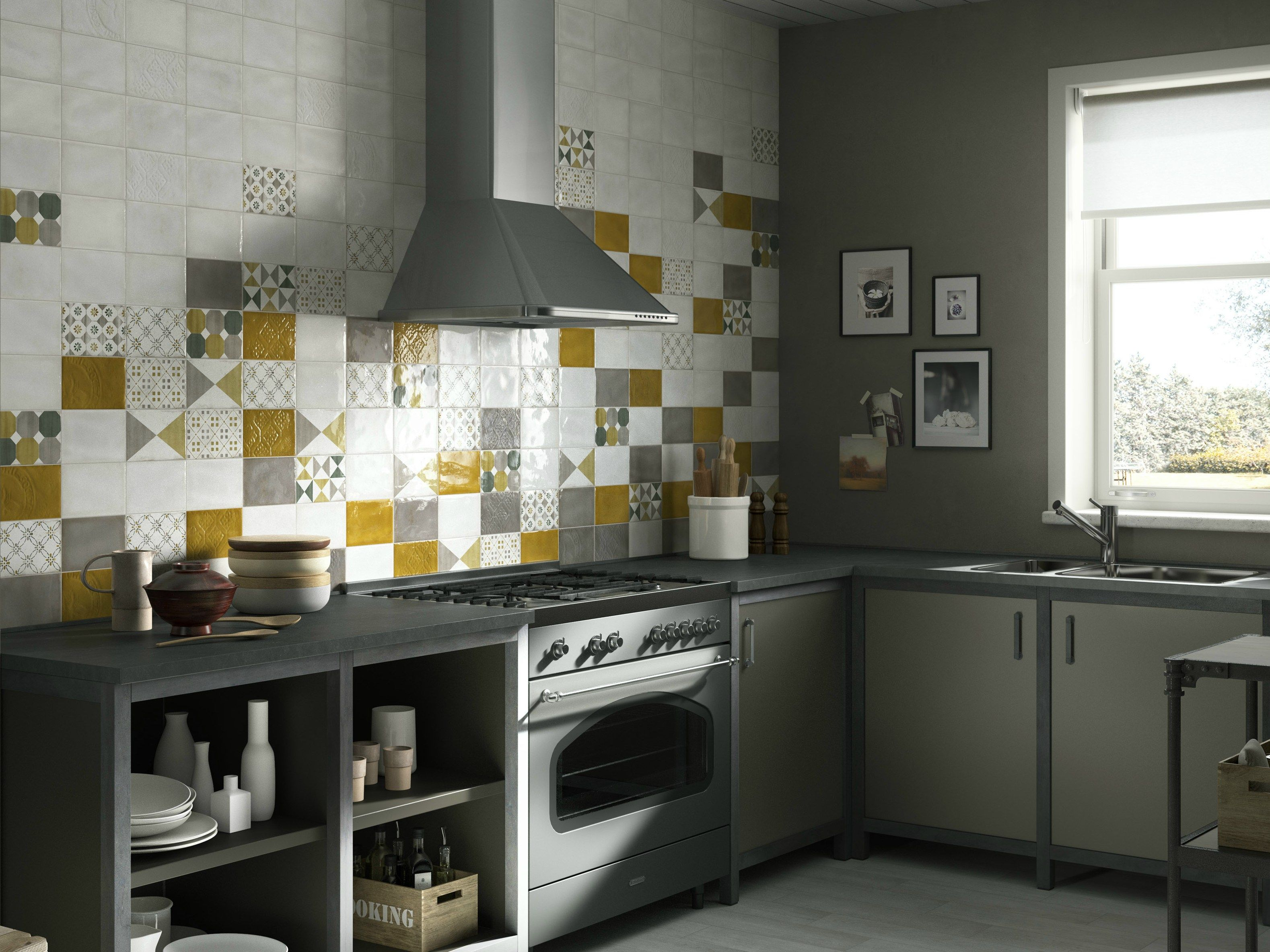 Double-fired ceramic wall tiles IMOLA 1874 by Cooperativa Ceramica ...