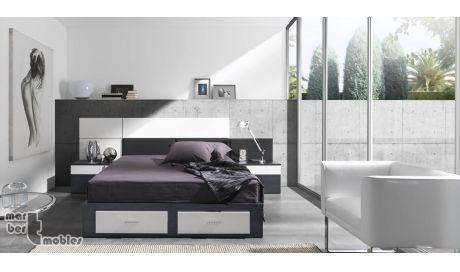 Dormitorio de matrimonio con canap abatible 03 abie - Dormitorios con canape ...