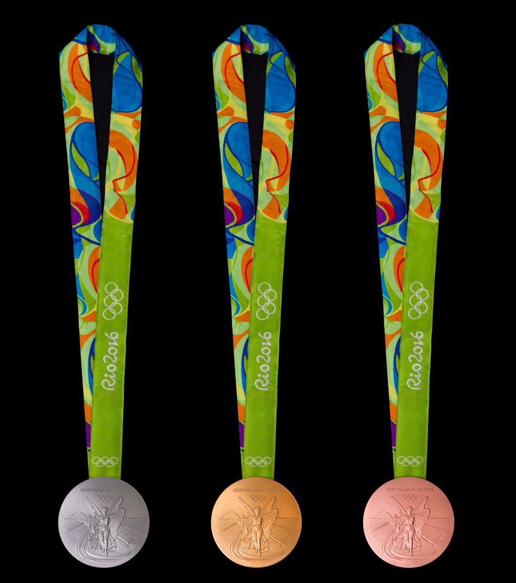 Rio 2016 on Olympic medals, Olympics, Rio olympics 2016
