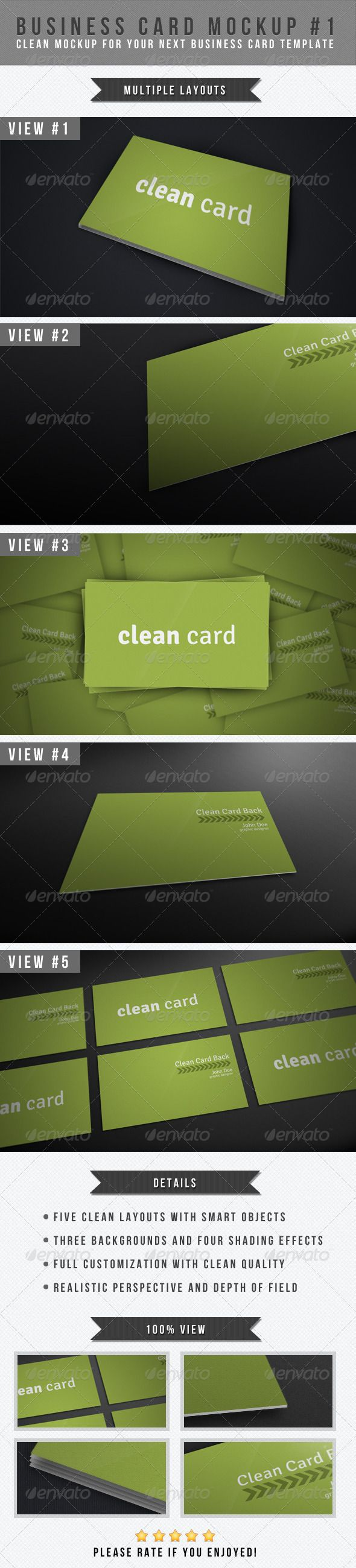 Business Card Mockup #1 — Photoshop PSD #how to create graphics #presentation • Available here → https://graphicriver.net/item/business-card-mockup-1/1970206?ref=pxcr