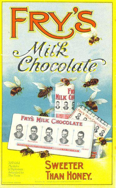 leaflet advertising frys milk chocolate