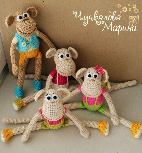 Patrón de ganchillo juguete mono divertido PDF por MyCroWonders ...