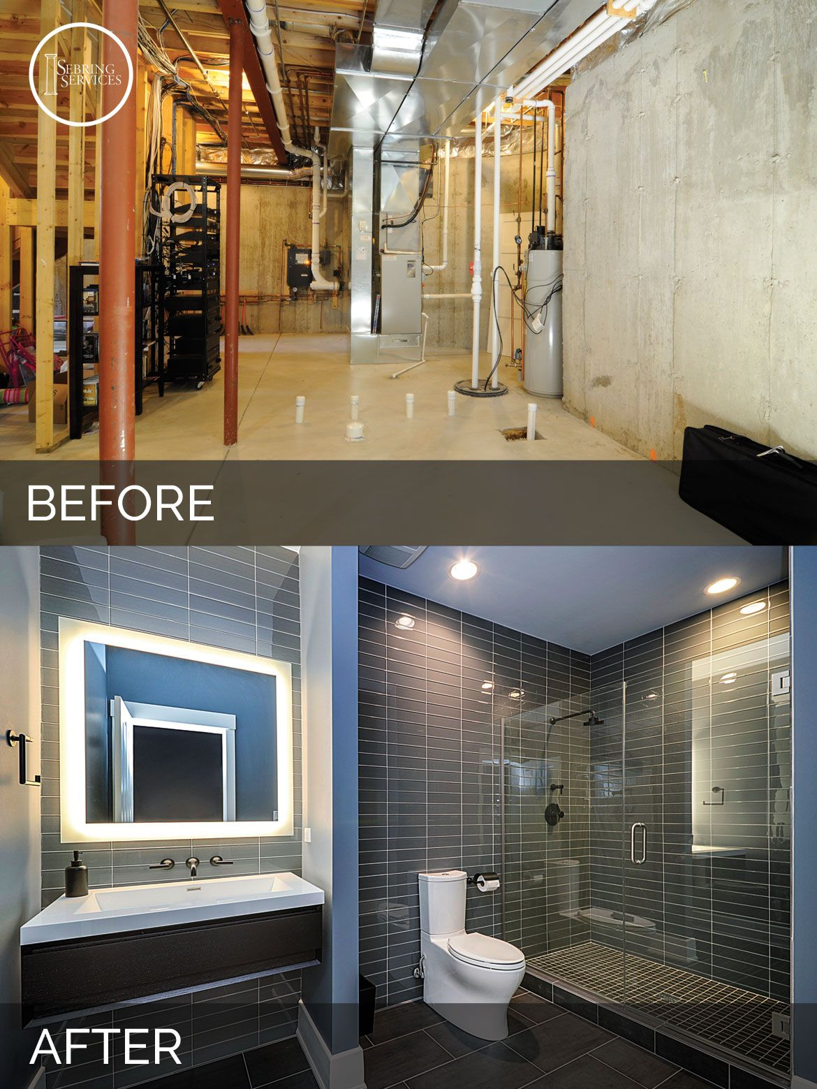 Basement Remodeling Ideas Before And After sidd & nisha's basement before & after pictures | basements