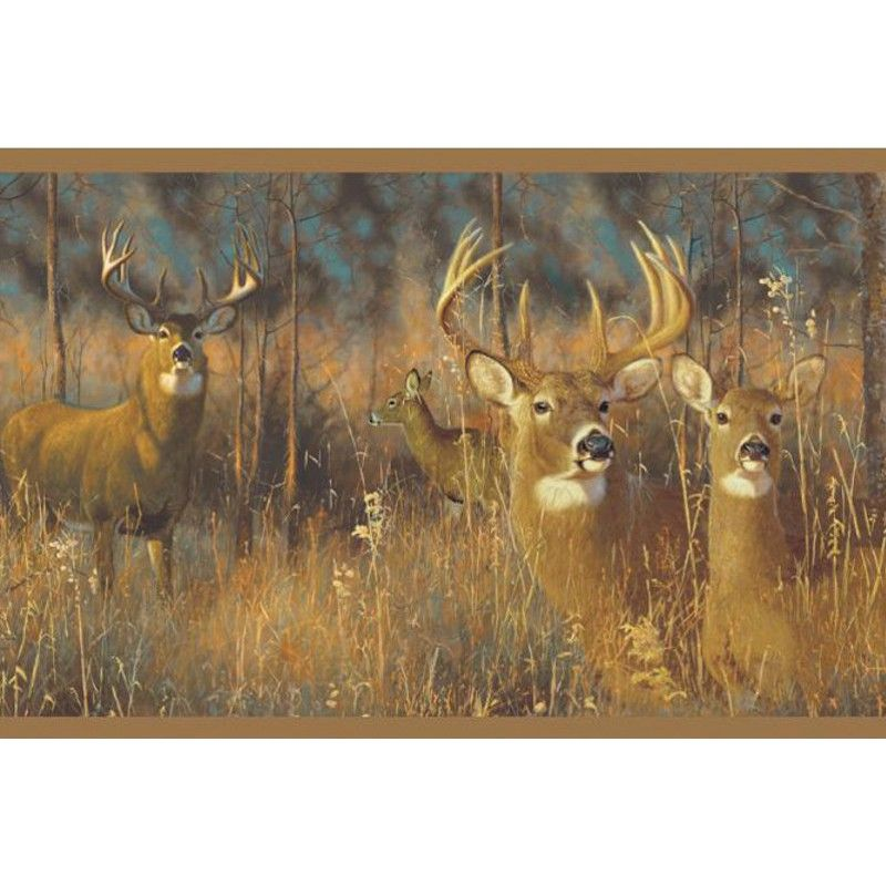 Pin by Shelly Yeckley on homes Deer wallpaper border