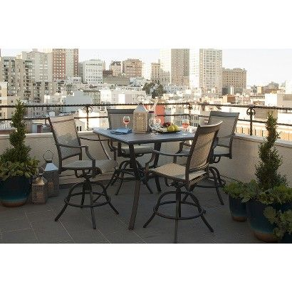 Threshold™ Harriet 5 Piece Sling Balcony Height Patio Dining Furniture Set    Maybe Just